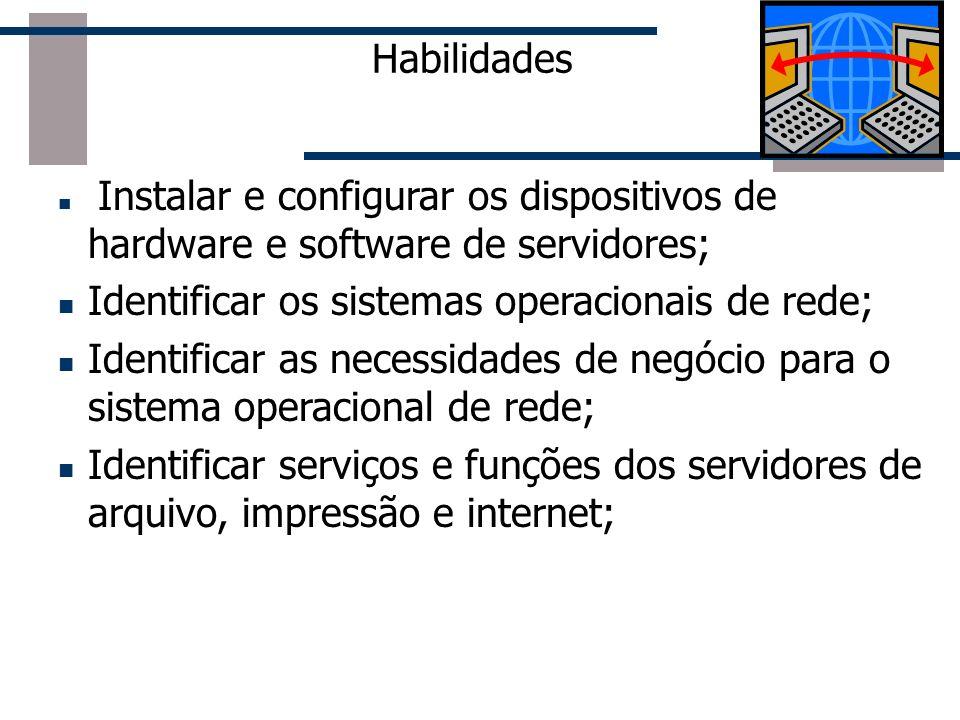 Identificar os sistemas operacionais de rede;