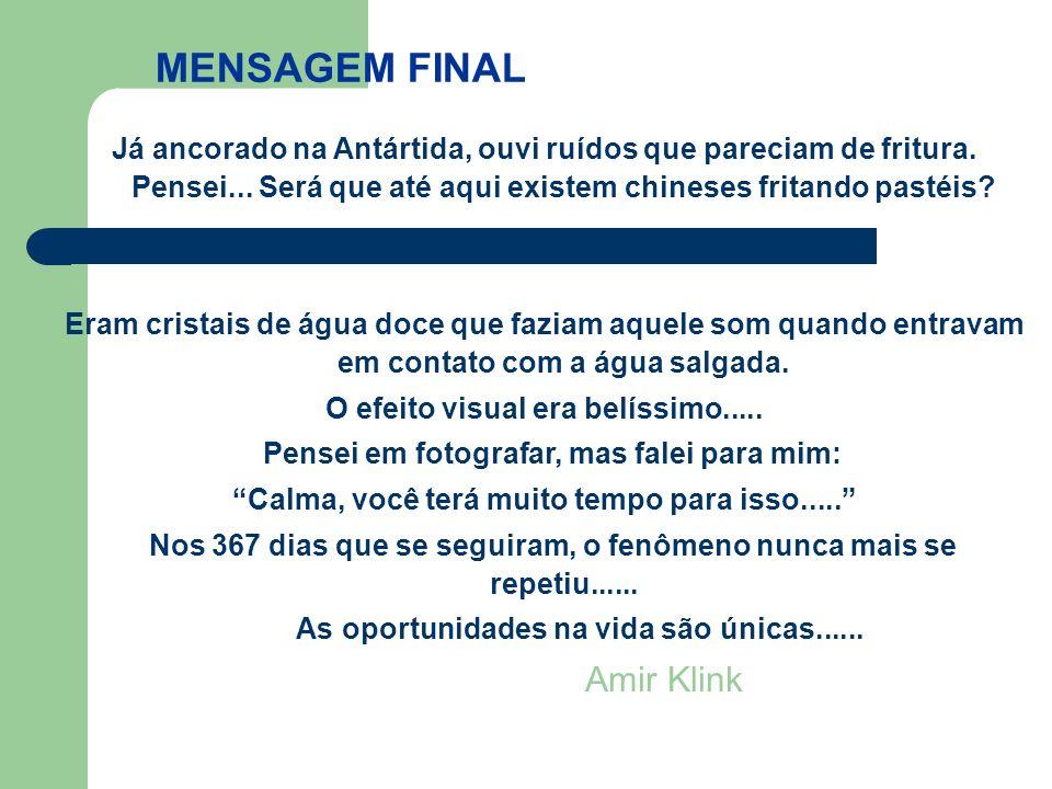 MENSAGEM FINAL Amir Klink