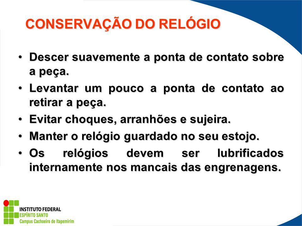 CONSERVAÇÃO DO RELÓGIO