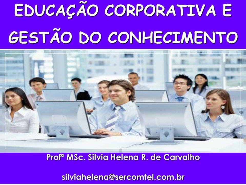 EDUCAÇÃO CORPORATIVA E Profª MSc. Silvia Helena R. de Carvalho