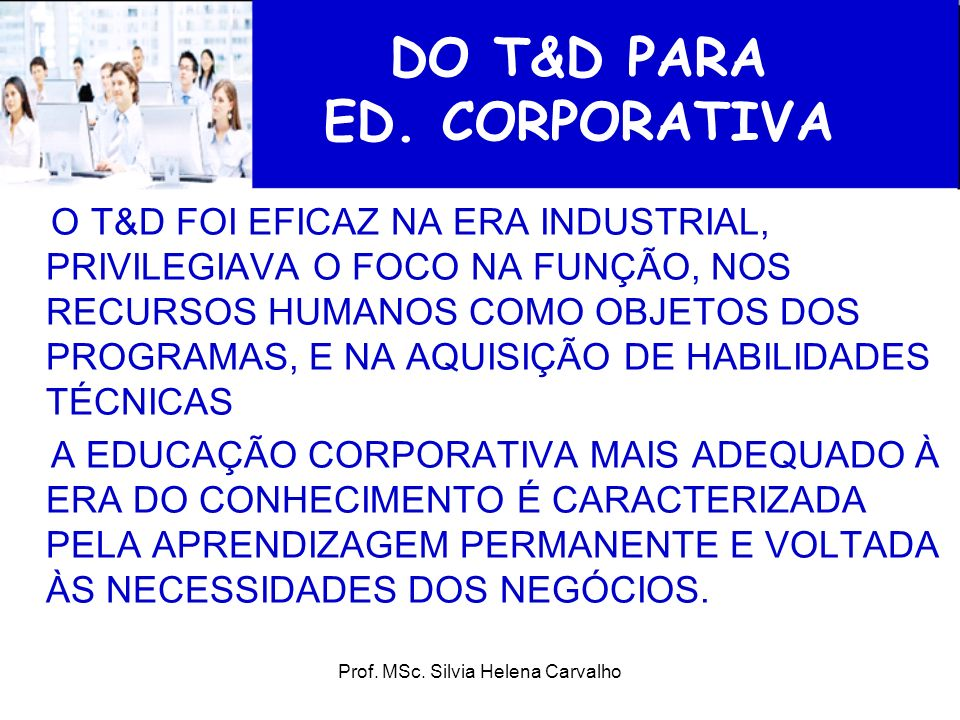 DO T&D PARA ED. CORPORATIVA