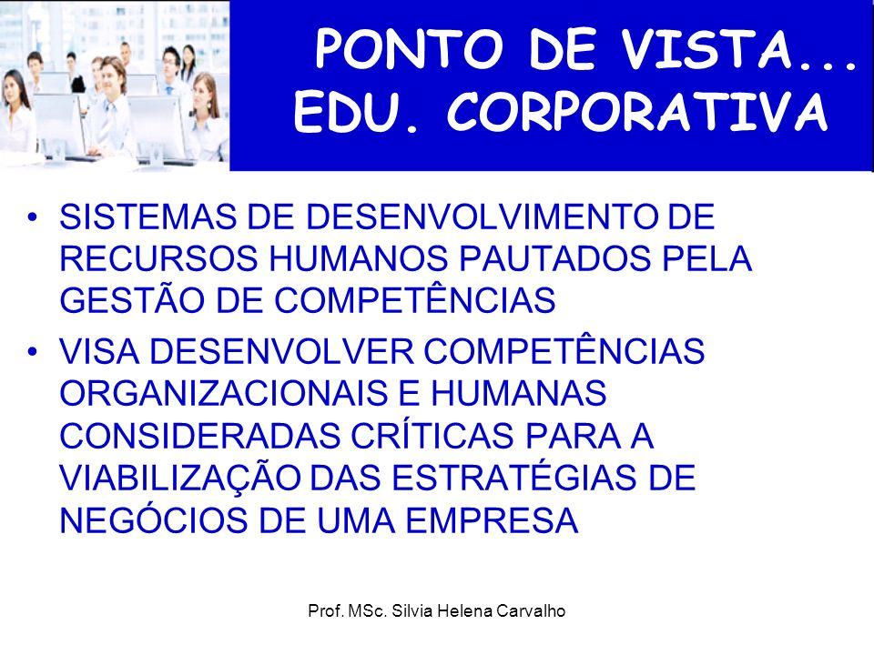 PONTO DE VISTA... EDU. CORPORATIVA