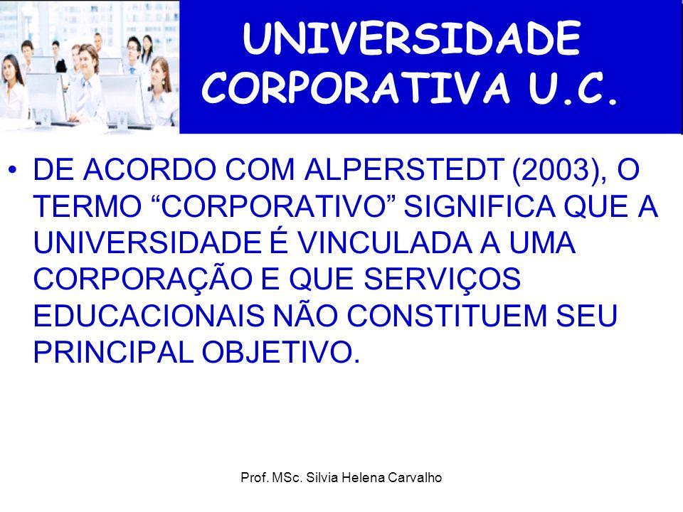 UNIVERSIDADE CORPORATIVA U.C.