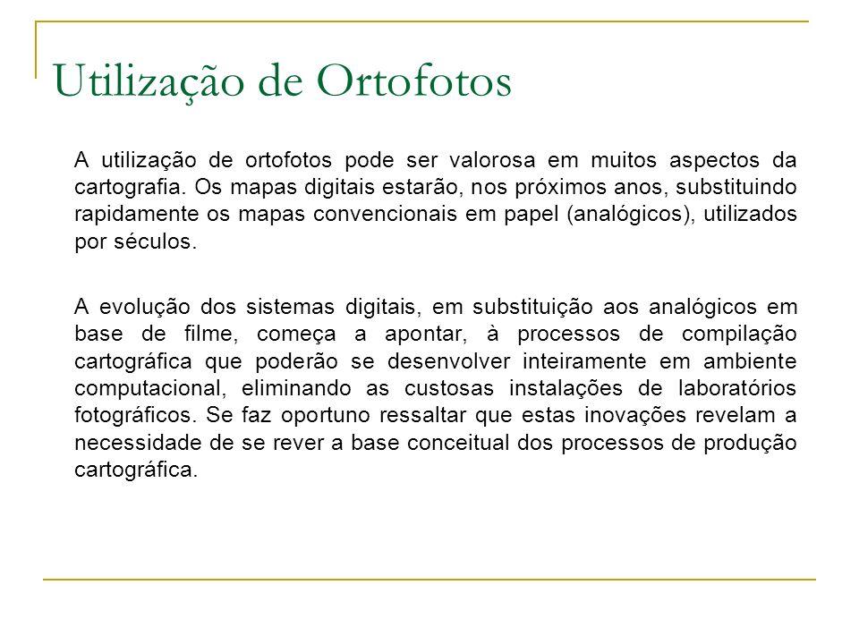 Utilização de Ortofotos