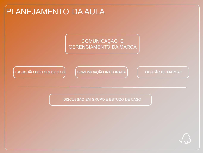 PLANEJAMENTO DA AULA COMUNICAÇÃO E GERENCIAMENTO DA MARCA