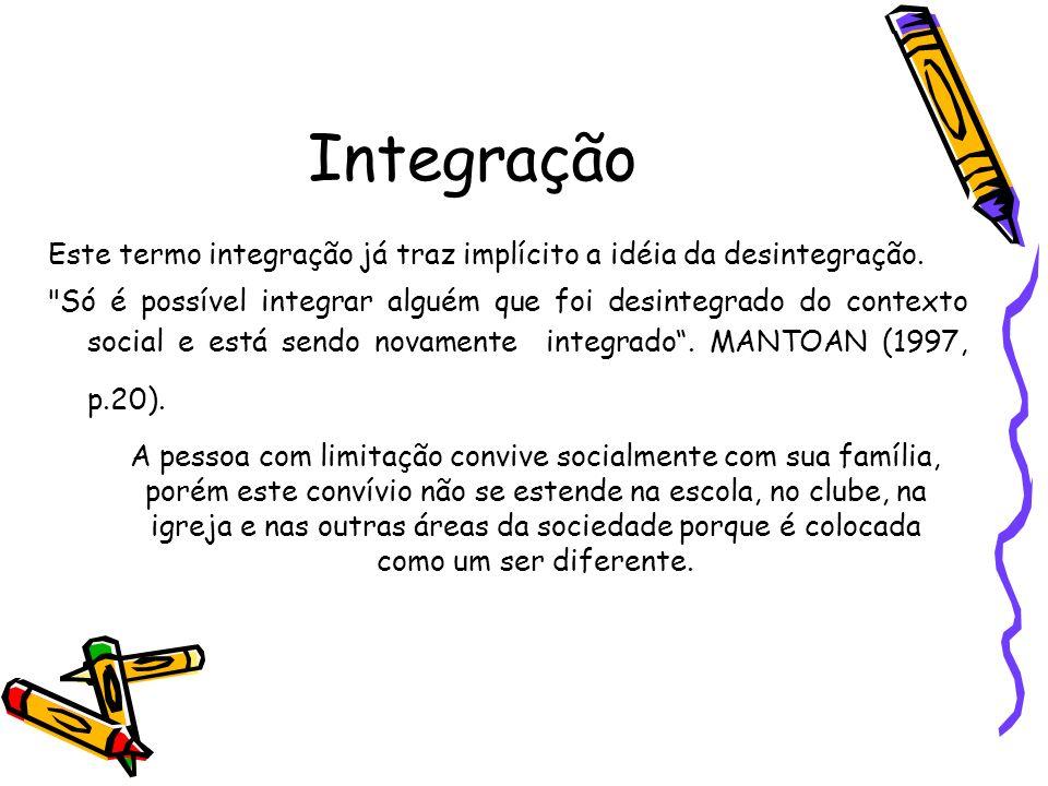 Integração Este termo integração já traz implícito a idéia da desintegração.