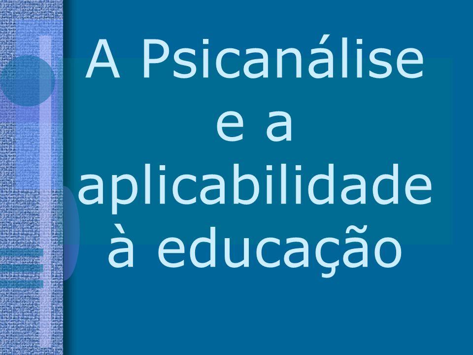 A Psicanálise e a aplicabilidade à educação