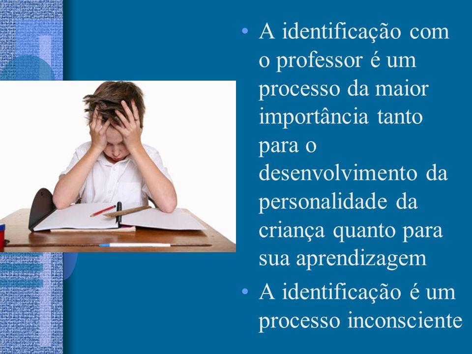 A identificação com o professor é um processo da maior importância tanto para o desenvolvimento da personalidade da criança quanto para sua aprendizagem