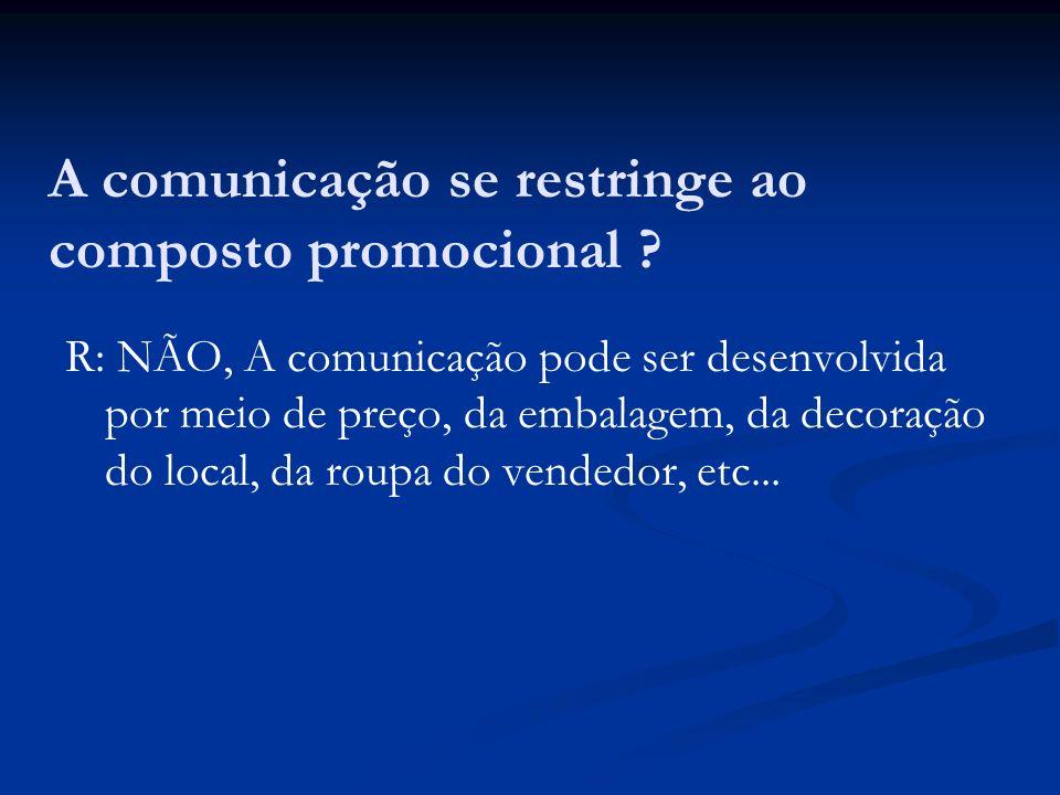 A comunicação se restringe ao composto promocional