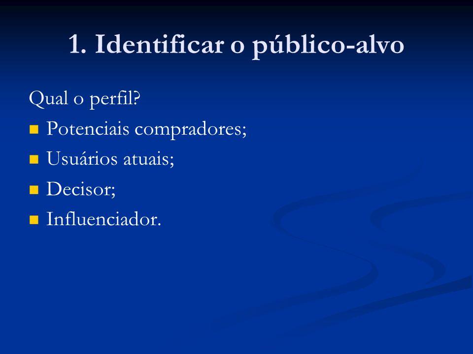 1. Identificar o público-alvo