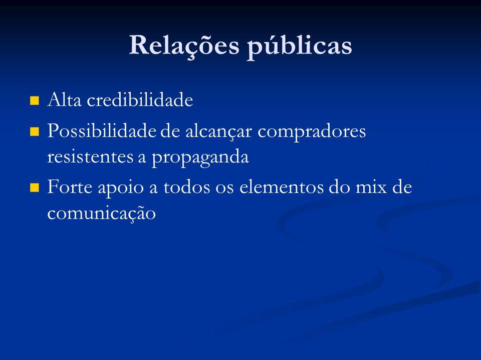 Relações públicas Alta credibilidade