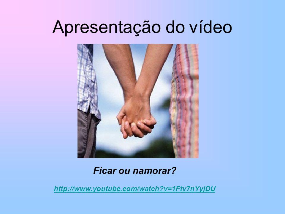 Apresentação do vídeo Ficar ou namorar