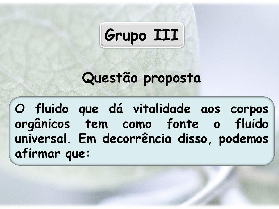 Grupo III Questão proposta