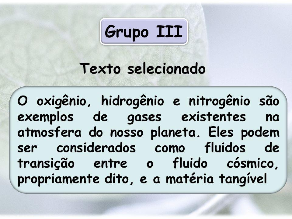 Grupo III Texto selecionado