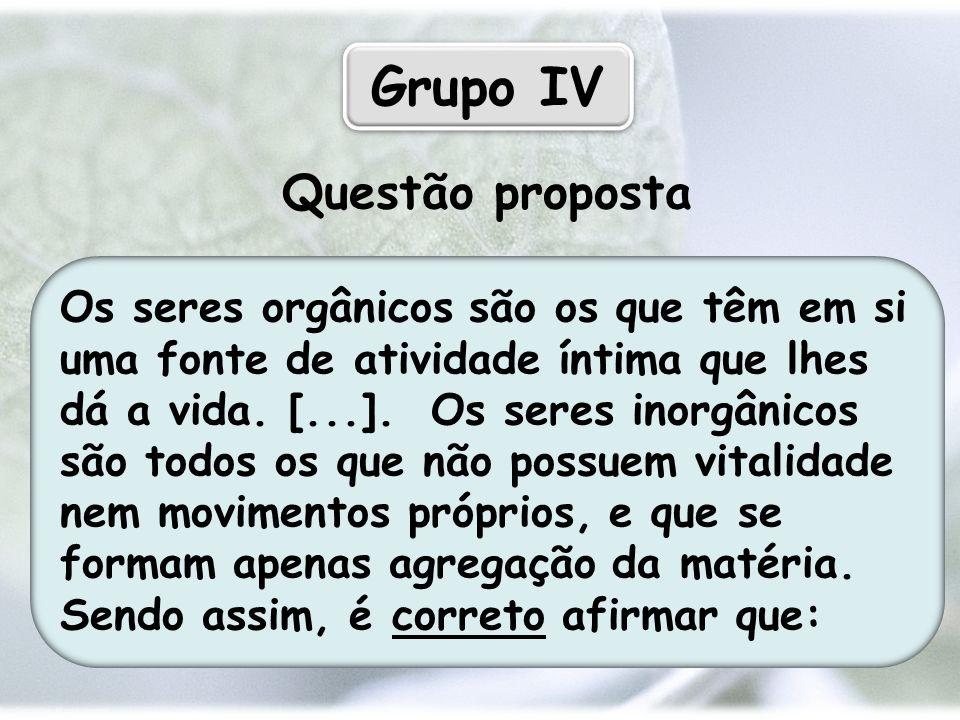 Grupo IV Questão proposta