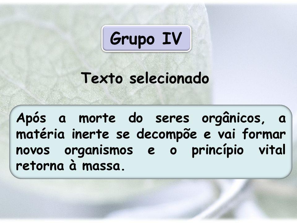 Grupo IV Texto selecionado