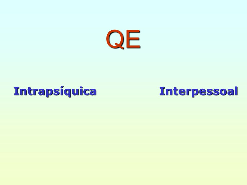 QE Interpessoal Intrapsíquica