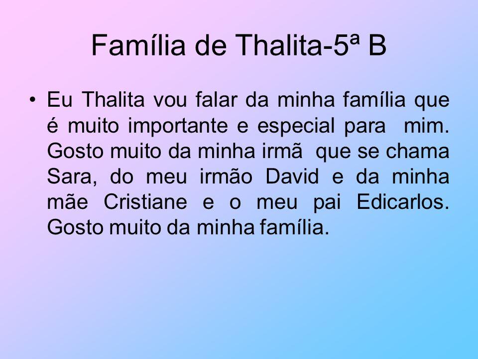 Família de Thalita-5ª B