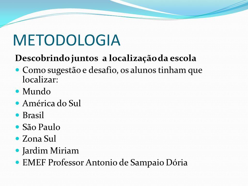 METODOLOGIA Descobrindo juntos a localização da escola
