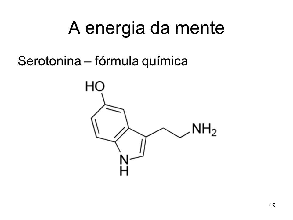 A energia da mente Serotonina – fórmula química