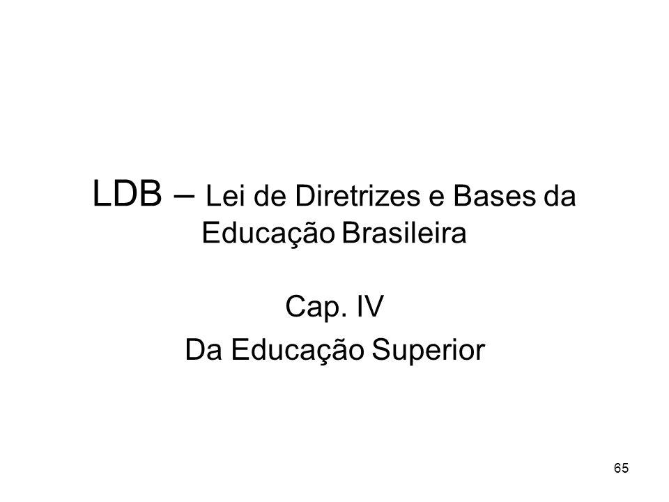 LDB – Lei de Diretrizes e Bases da Educação Brasileira