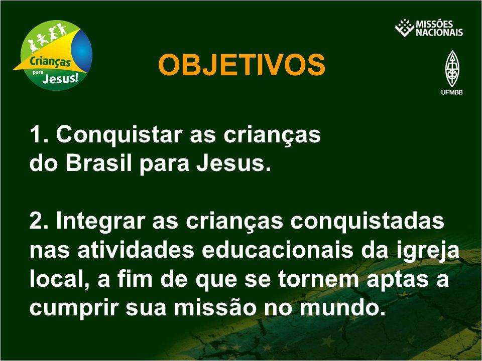 OBJETIVOS 1. Conquistar as crianças do Brasil para Jesus.