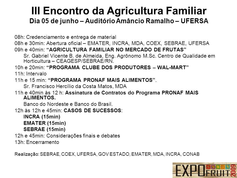 III Encontro da Agricultura Familiar