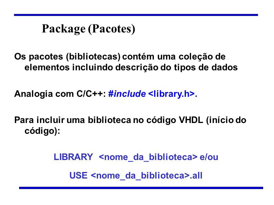 LIBRARY <nome_da_biblioteca> e/ou