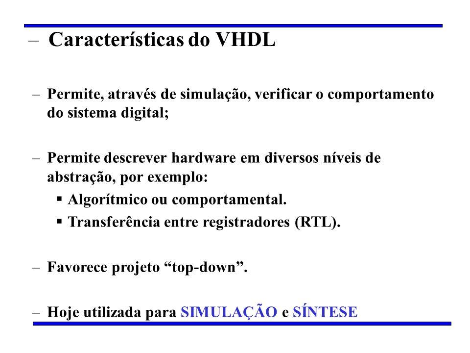 Características do VHDL