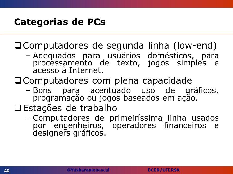 Computadores de segunda linha (low-end)
