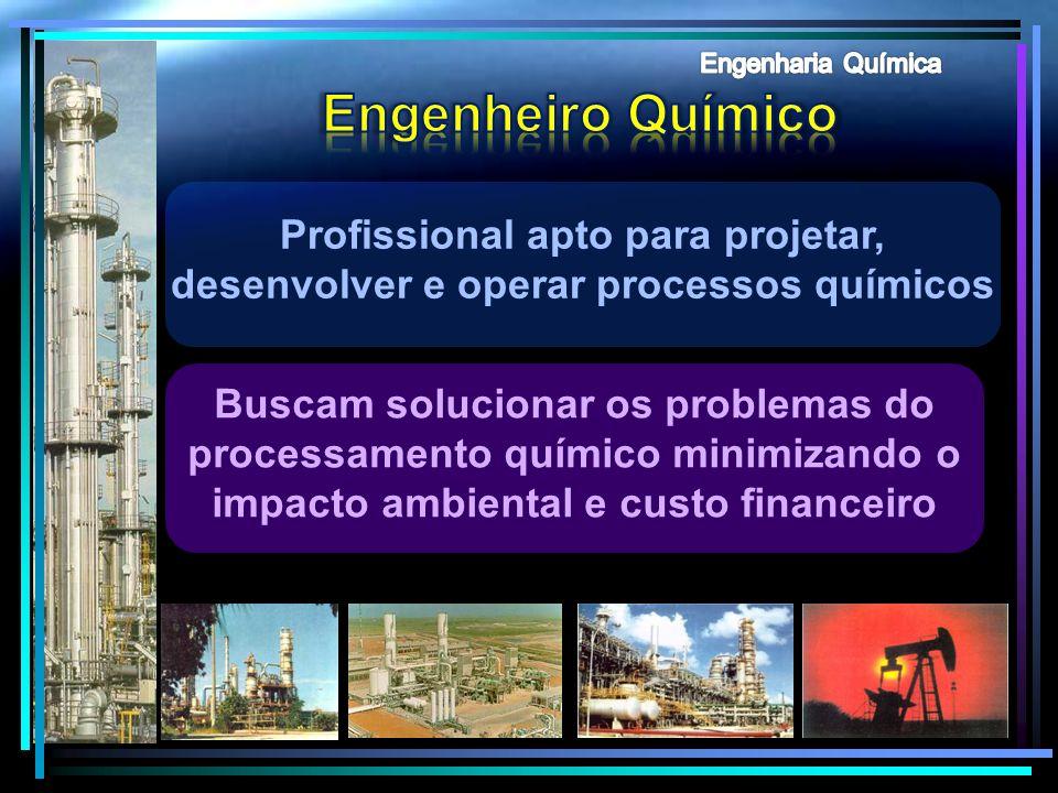 Engenharia Química Engenheiro Químico. Profissional apto para projetar, desenvolver e operar processos químicos.