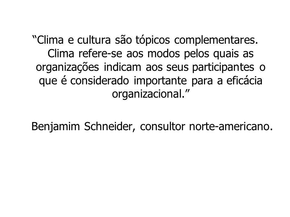 Clima e cultura são tópicos complementares