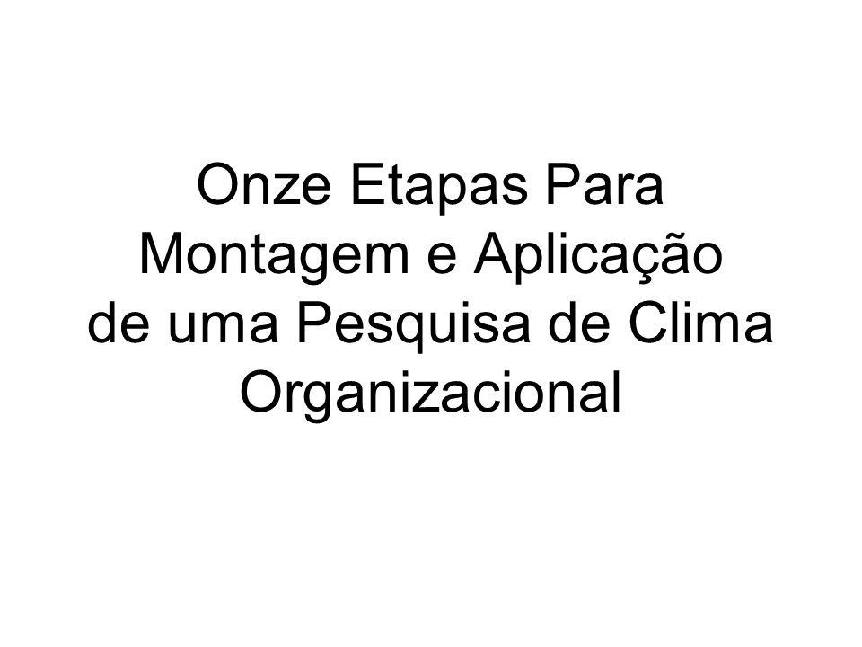 Onze Etapas Para Montagem e Aplicação de uma Pesquisa de Clima Organizacional