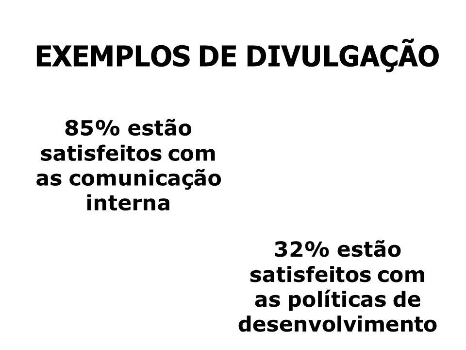 EXEMPLOS DE DIVULGAÇÃO