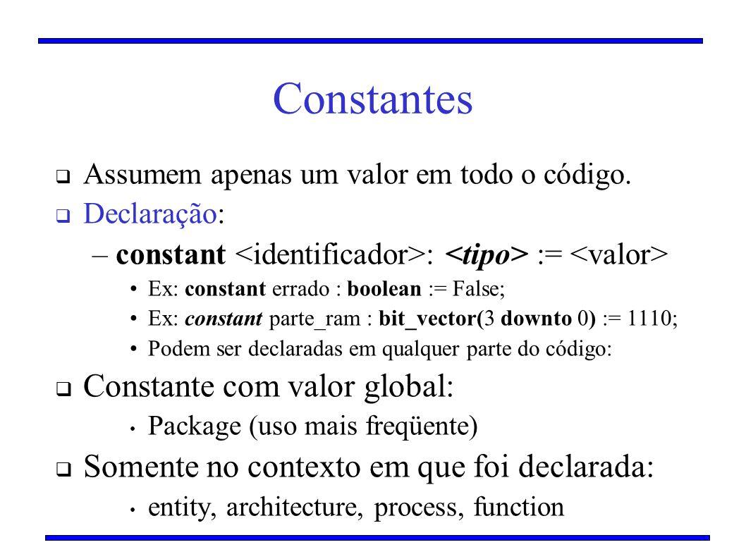 Constantes Constante com valor global: