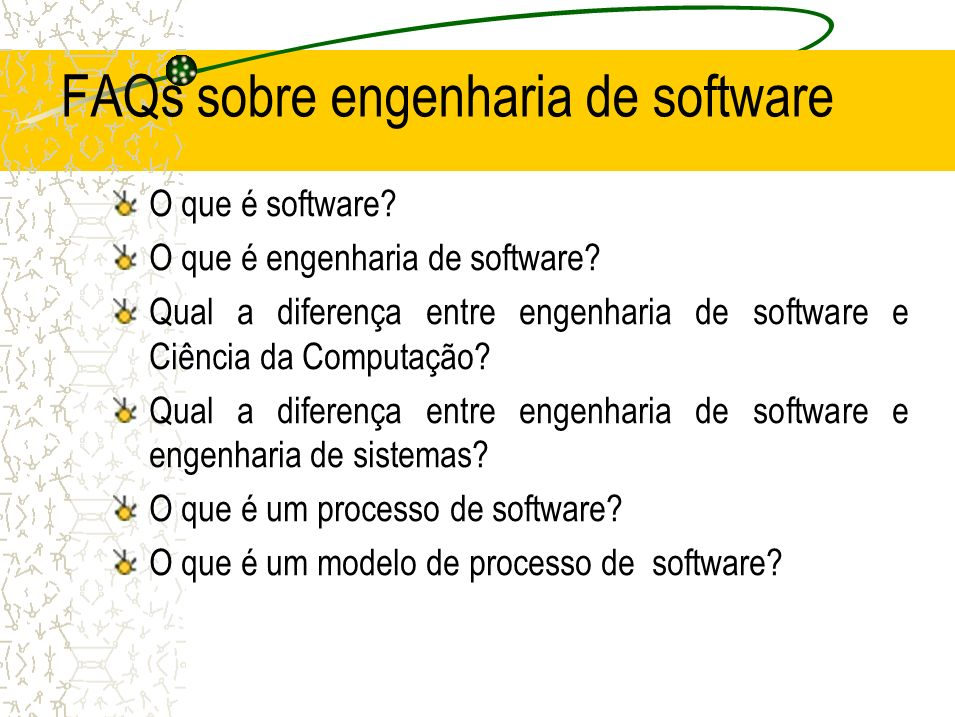 FAQs sobre engenharia de software