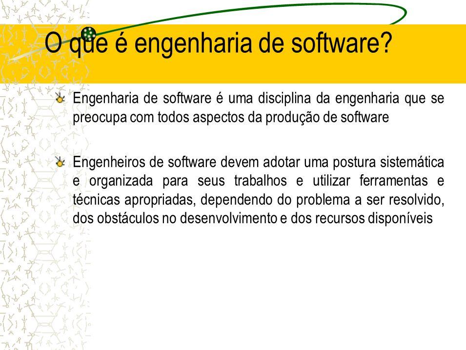 O que é engenharia de software