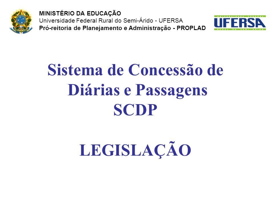Sistema de Concessão de Diárias e Passagens SCDP