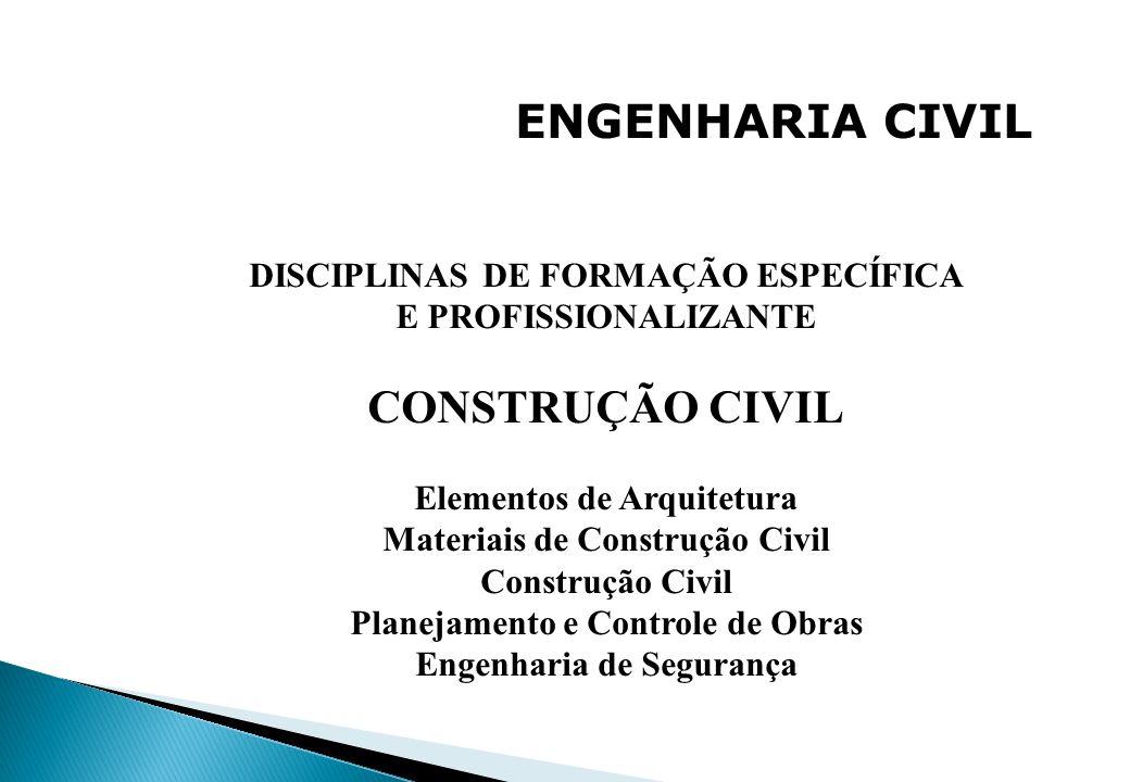 ENGENHARIA CIVIL CONSTRUÇÃO CIVIL DISCIPLINAS DE FORMAÇÃO ESPECÍFICA