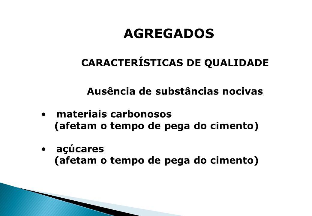 CARACTERÍSTICAS DE QUALIDADE Ausência de substâncias nocivas