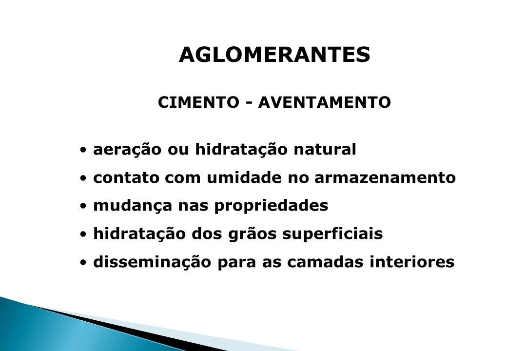 AGLOMERANTES CIMENTO - AVENTAMENTO aeração ou hidratação natural