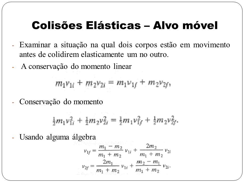 Colisões Elásticas – Alvo móvel