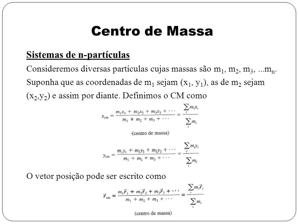 Centro de Massa Sistemas de n-partículas