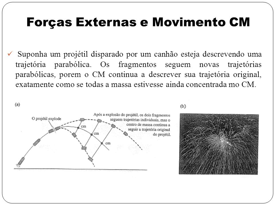 Forças Externas e Movimento CM