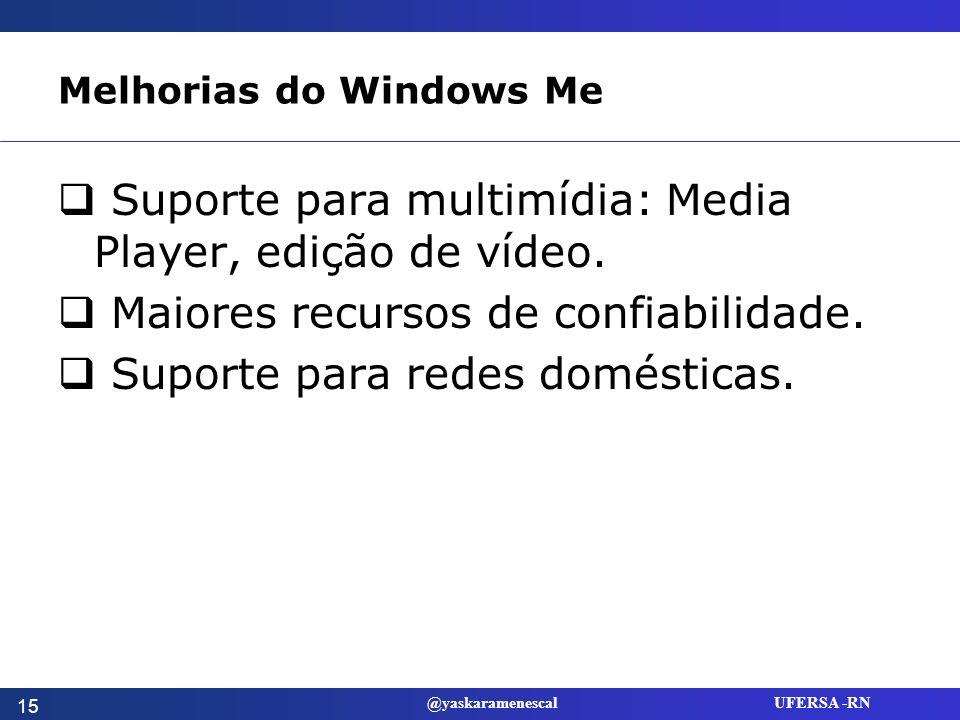 Melhorias do Windows Me