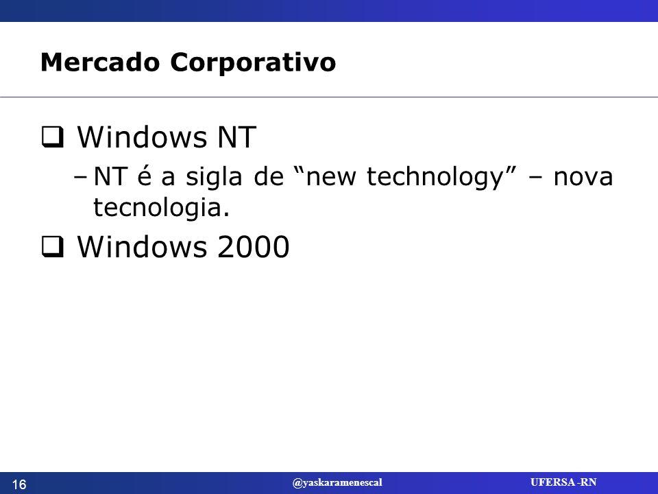 Windows NT Windows 2000 Mercado Corporativo