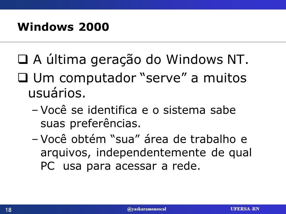 A última geração do Windows NT.