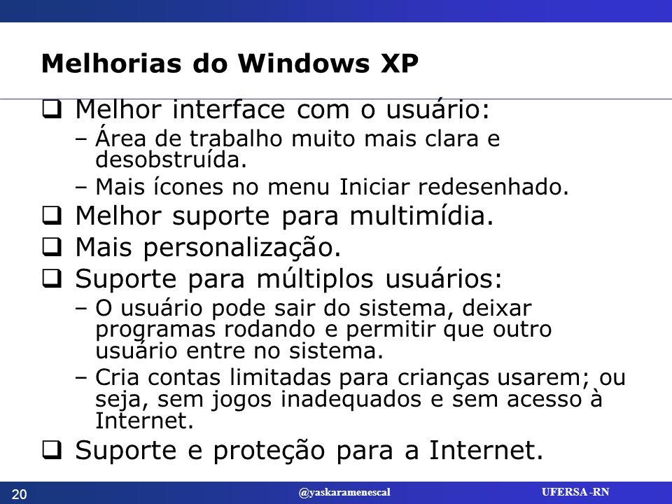 Melhorias do Windows XP