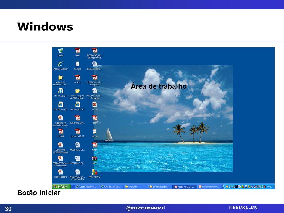 Windows Área de trabalho Botão iniciar