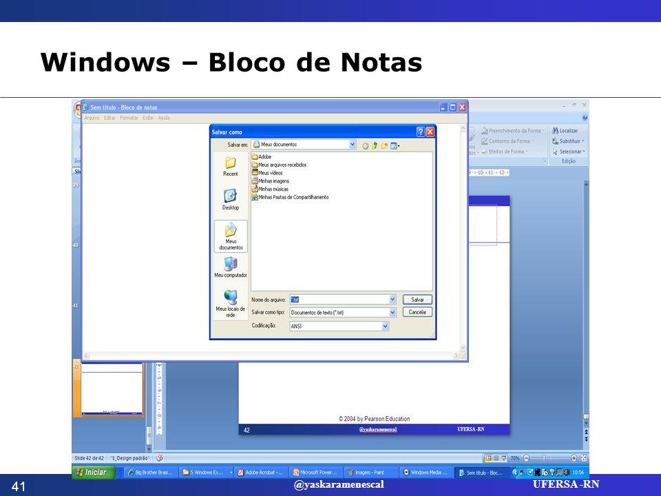 Windows – Bloco de Notas